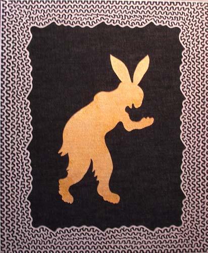 745 HAMAZAKI Standing Rabbit 立ちウサギ